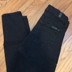 7 jeans- Light black skinny